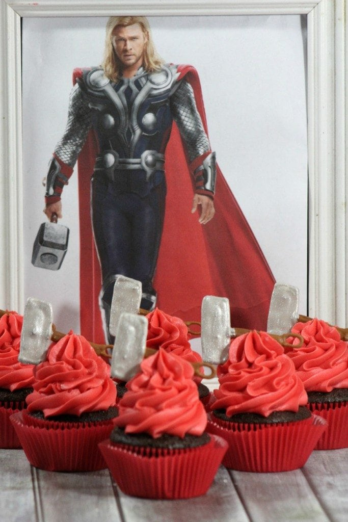 Avengers Thor Cupcakes