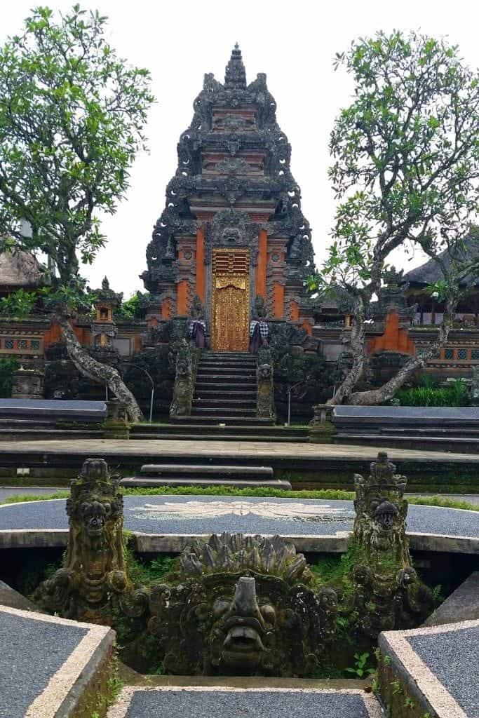 Ubud water palace in Bali