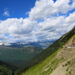 Breathtaking view of the Going to the Sun Road in Glacier National Park