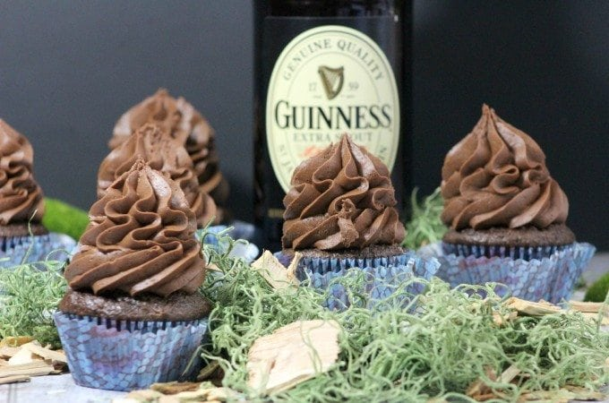 Super Easy Guinness Chocolate Cupcake Recipe