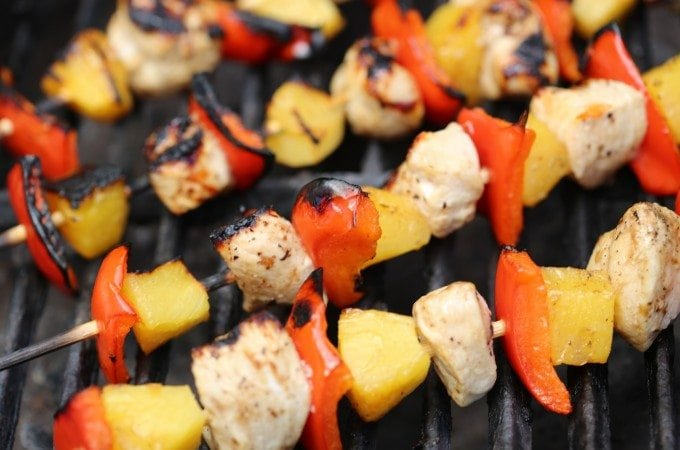 Grilled Balsamic Chicken Skewers on the Barbecue 2