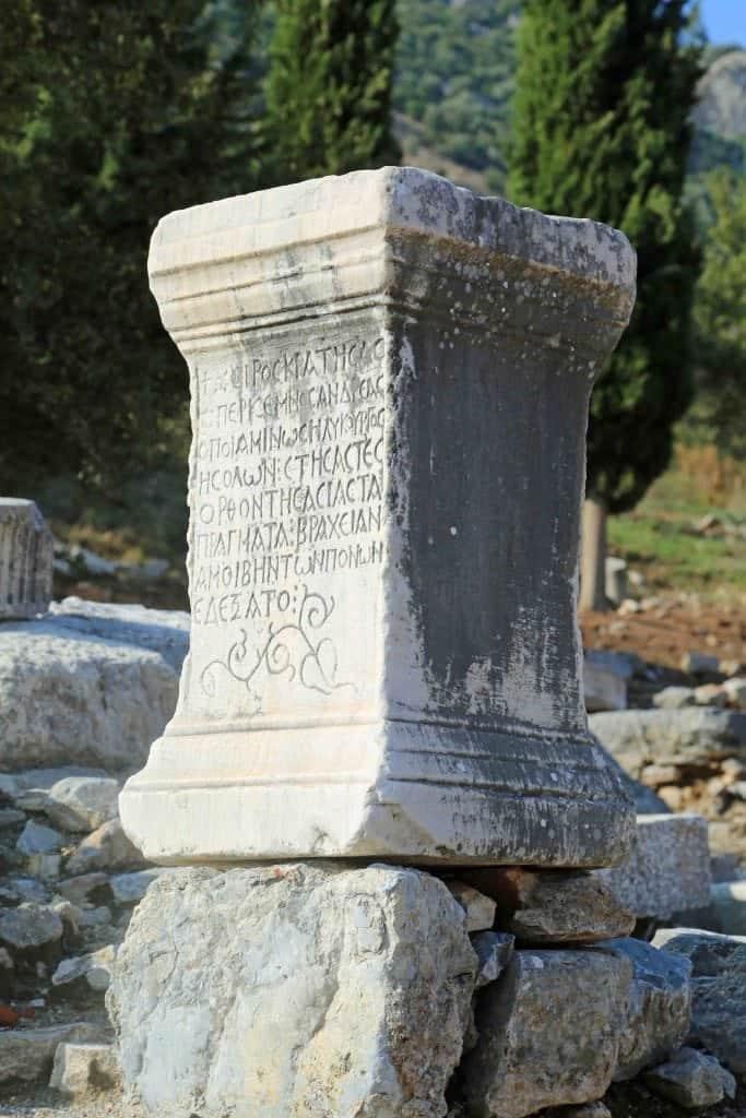 Blog pillar at Ehpesus Turkey