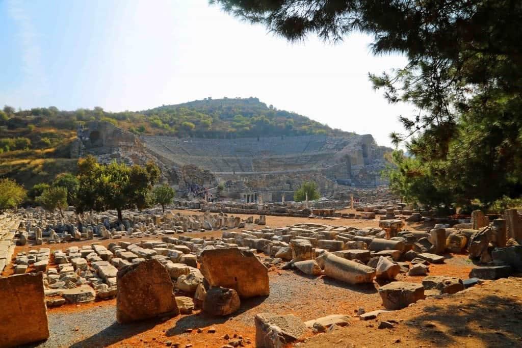 view before leaving Ephesus Turkey