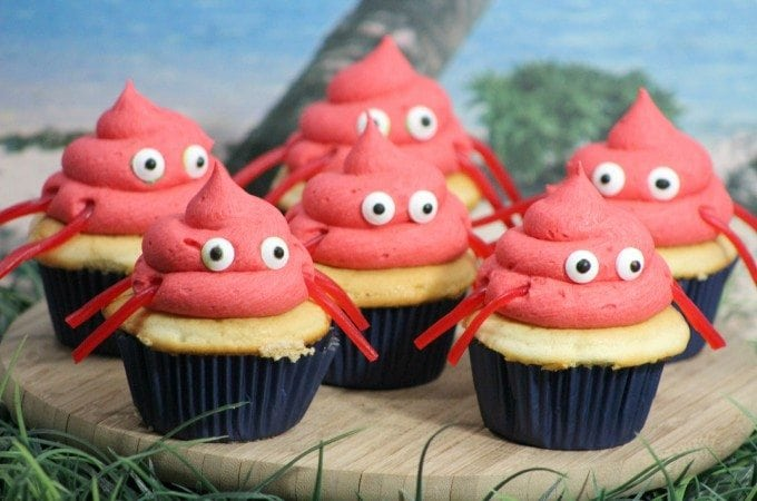 Super Cute Crab Cupcakes Recipe