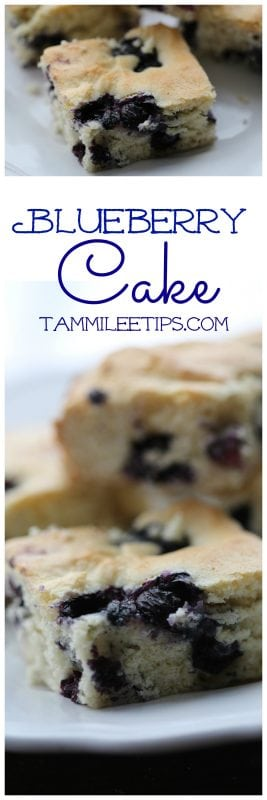 Easy Homemade from scratch Blueberry Cake Recipe great for breakfast, birthday parties, or any day of the week. So easy to make!
