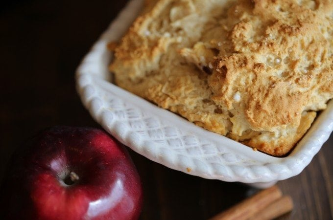 3 Ingredient Cinnamon Apple Beer Bread