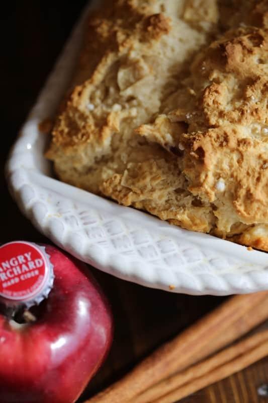 3 Ingredient Cinnamon Apple Beer Bread