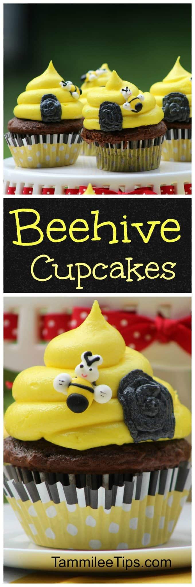 seriously cute honey bee beehive cupcake recipe