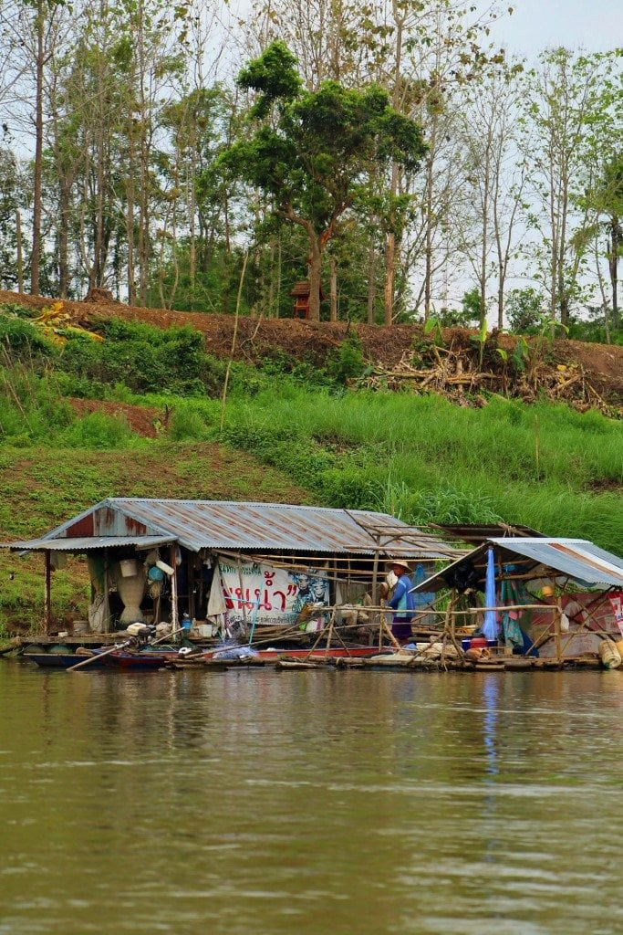Fishing hut on the Mekong River 2