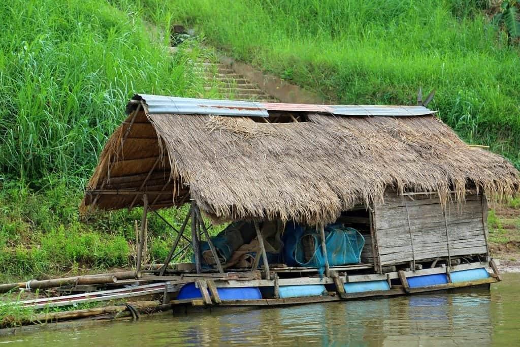 Hut along the Mekong River 2