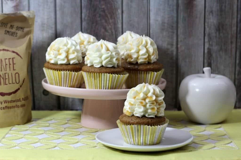Salted Caramel Latte Cupcake
