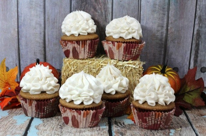 Spice Cupcakes with Cinnamon Frosting Recipe
