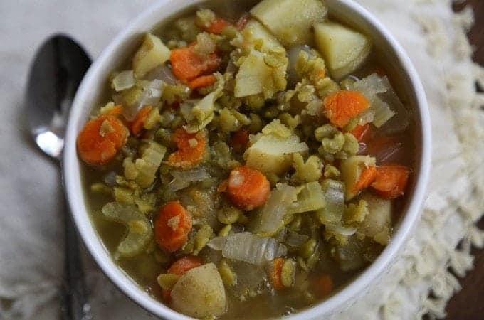 Slow Cooker Crock Pot Split Pea Soup Recipe