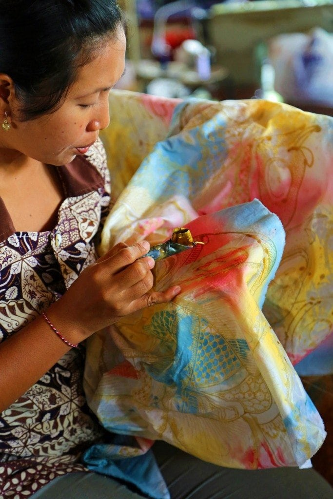Batik Factory Worker