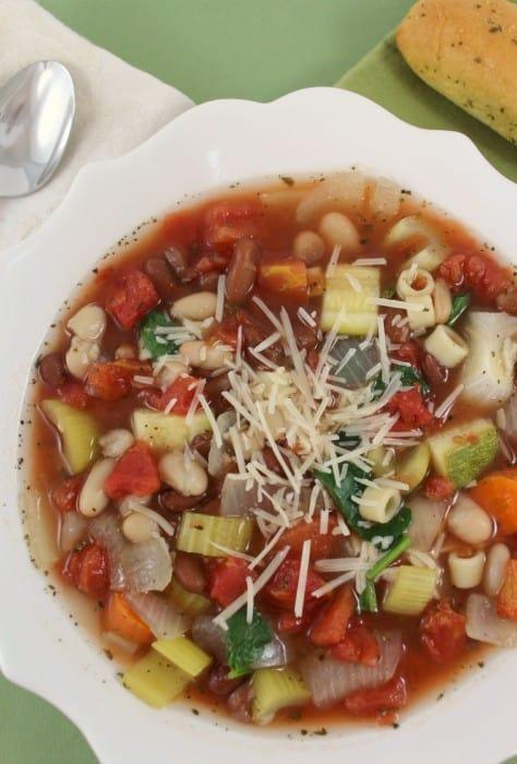 Crock pot copy cat olive garden minestrone soup recipe - Minestrone soup olive garden recipe ...
