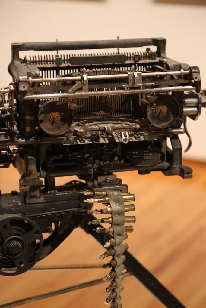 Fort Wayne Museum of Art Typewriter Art