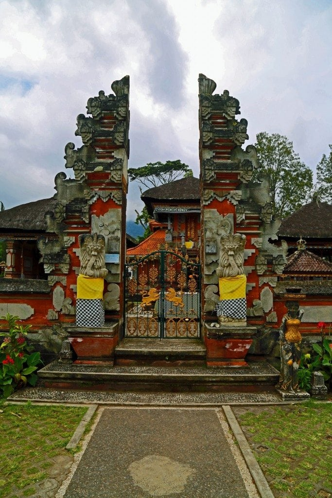 Gate inside Lake Palace Bali