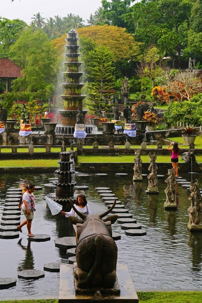 Kids playing at the Water Palace Bali