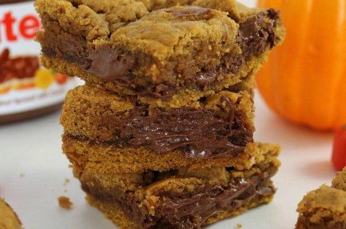 Pumpkin Nutella Bars Recipe