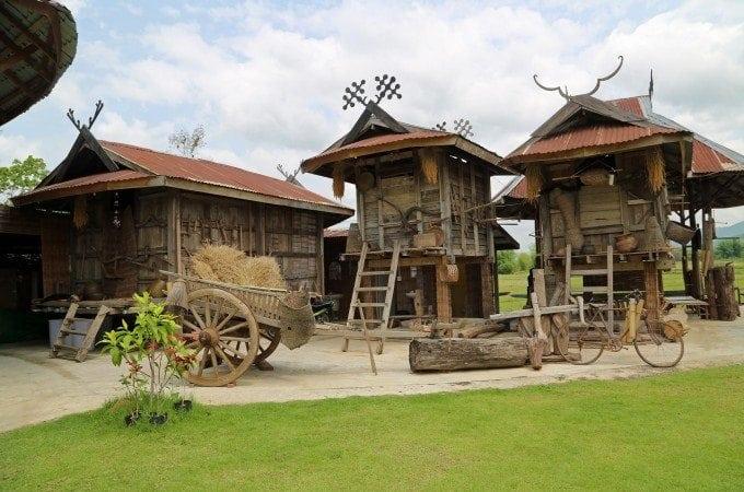 Visiting the Thai Dam Cultural Village near Loei Thailand
