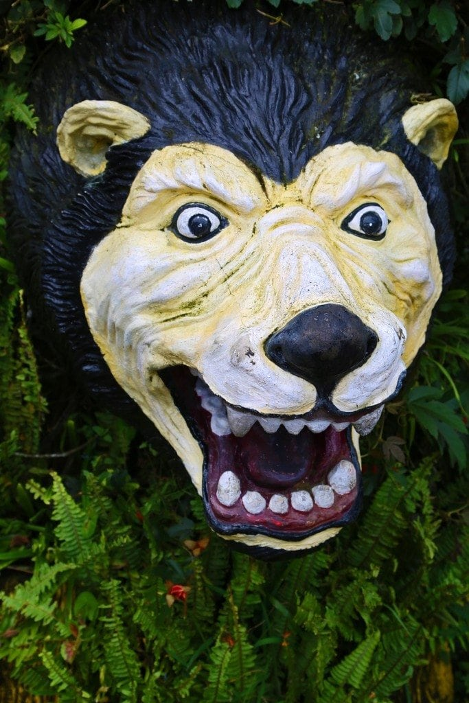 bear statue at Lake Palace Bali
