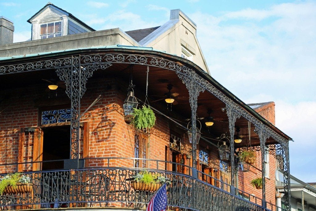 beautiful deck in the French Quarter New Orleans