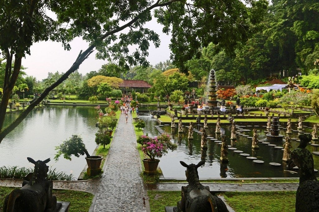 entering the main part of the Water Palace Bali