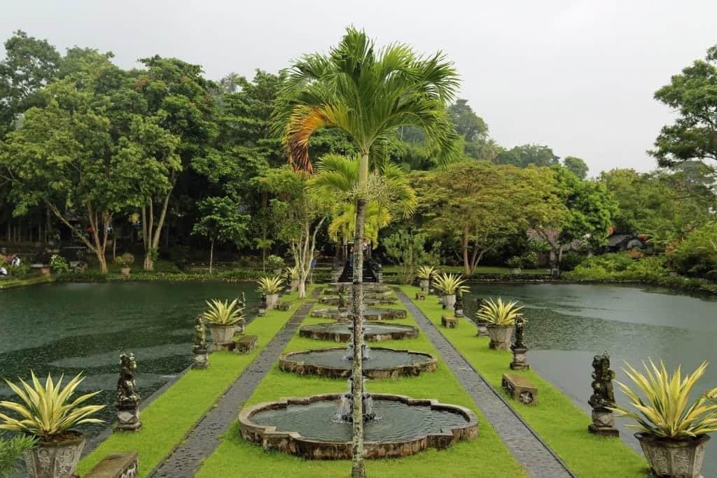path along Water Palace Bali