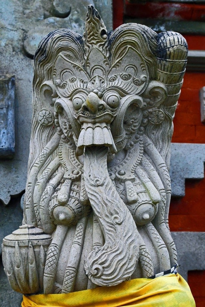 statue inside the Lake Palace Bali