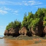 tide coming in at Hopewell Rocks