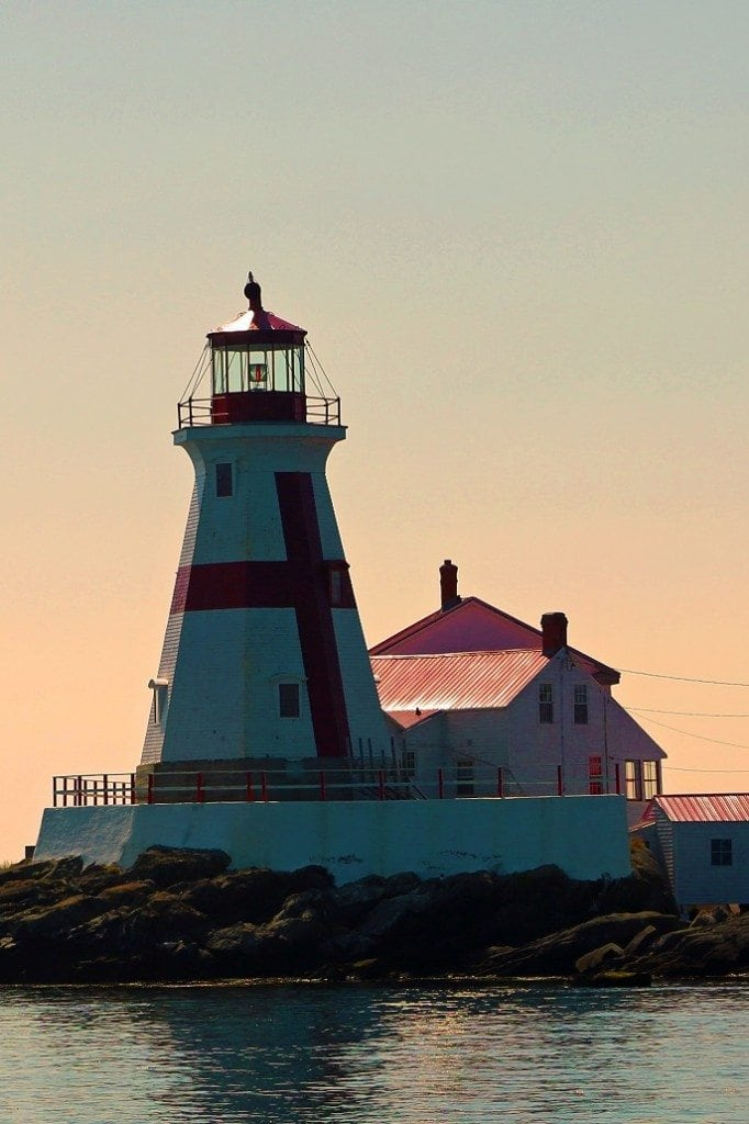 Lighthouse on the Bay of Fundy New Brunswick