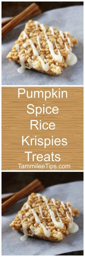 Pumpkin Spice Rice Krispie Treats are the perfect fall sweet treat ...