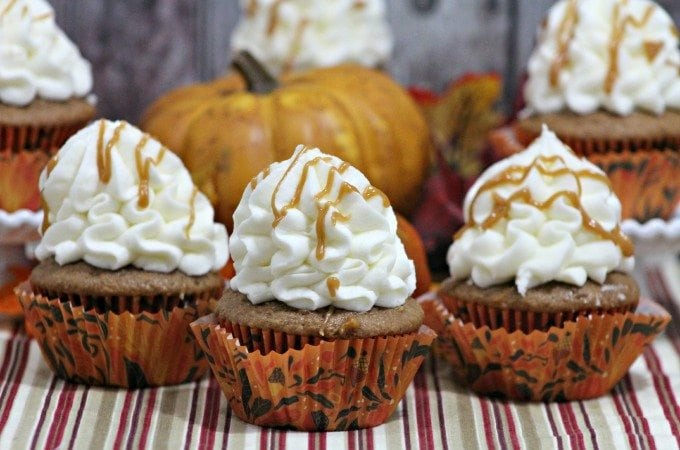 Sweet Potato cupcake with a caramel cream cheese frosting recipe