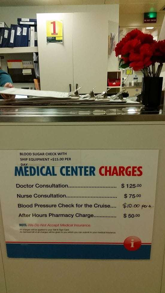 Amazing care from the Medical Center on the Carnival Conquest 2