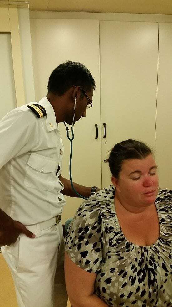 Amazing care from the Medical Center on the Carnival Conquest 3