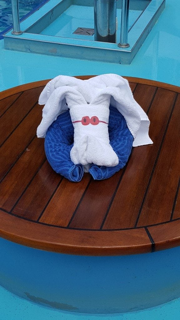 Carnival Conquest Towel Animal