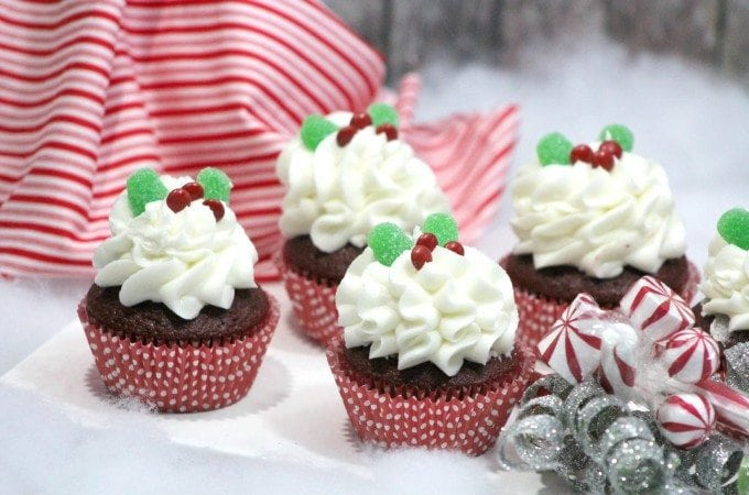 Holly Red Velvet Cupcake Recipe with Peppermint Frosting Recipe