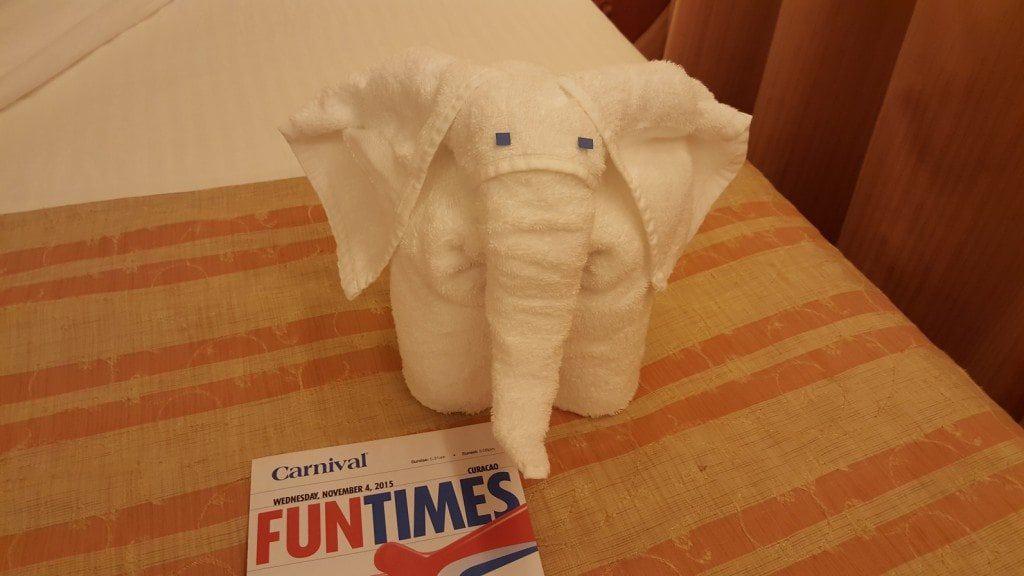 carnival towel elephant