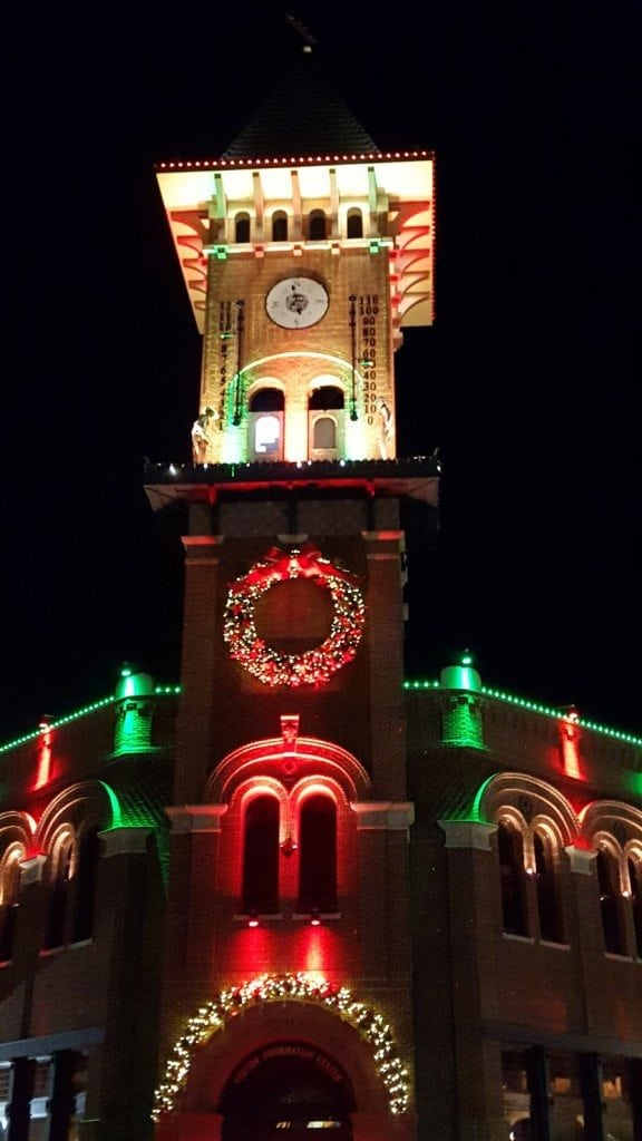 Grapevine Clock Tower at night