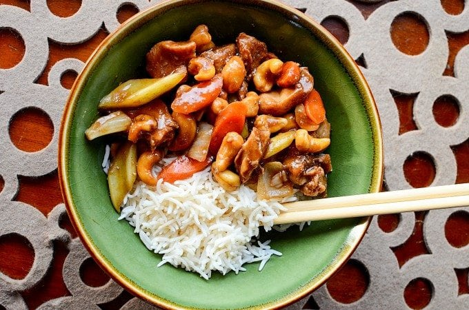 Slow Cooker Crock Pot Cashew Chicken Recipe