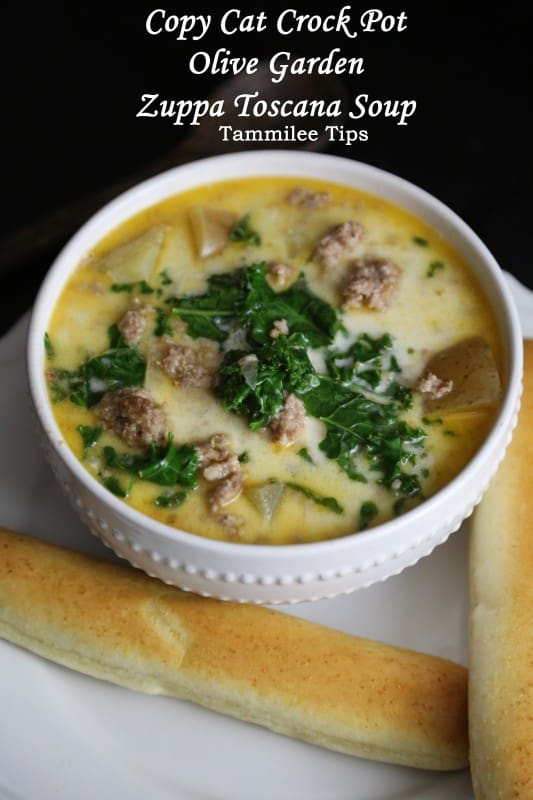 Crock Pot Copy Cat Olive Garden Zuppa Toscana Soup Recipe