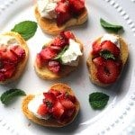 Strawberry Mint Bruschetta Appetizer Recipe