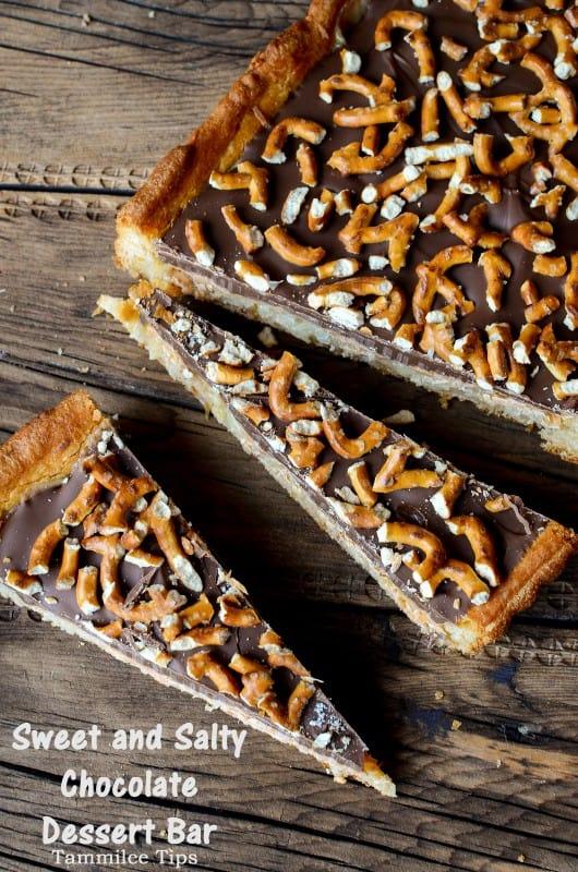 Sweet And Salty Chocolate Dessert Bar Recipe Tammilee Tips