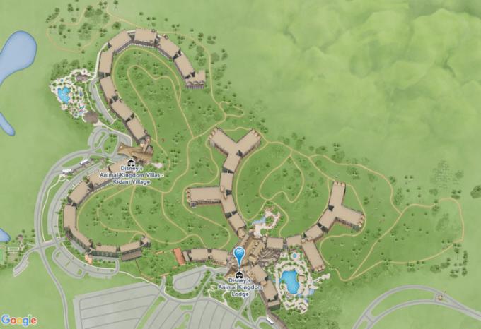 Disney Animal Kingdom Lodge Map