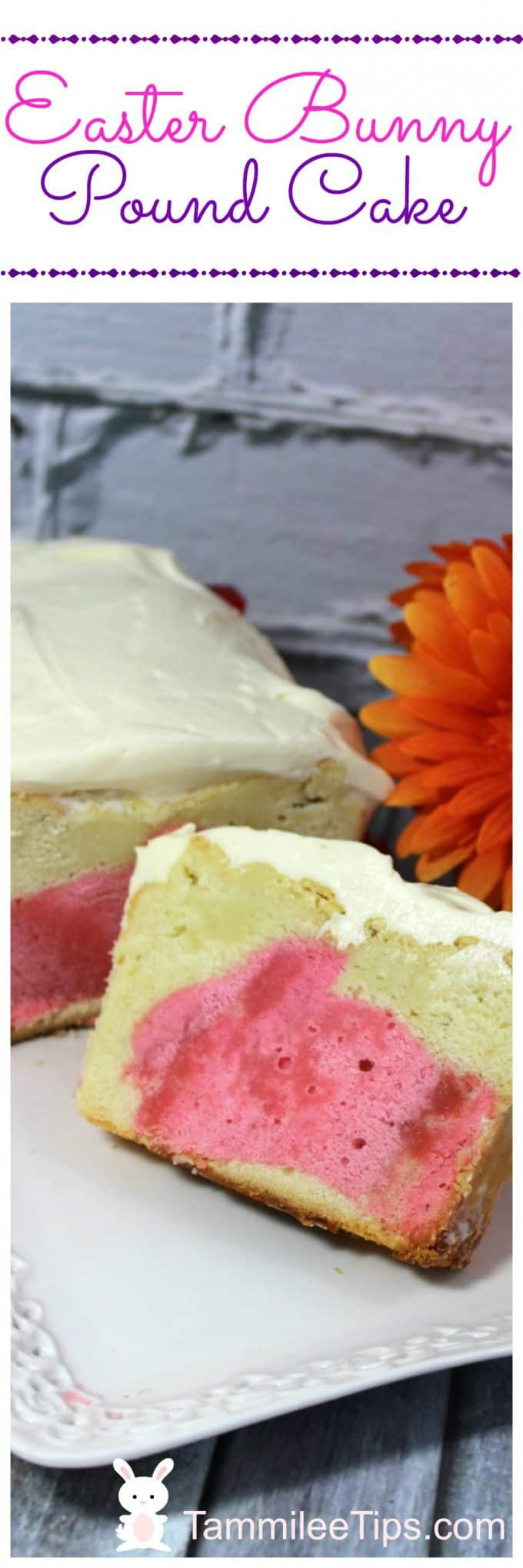 Super cute fun Easter Bunny Pound Cake Recipe. Surprise your guests at Easter Brunch with this surprise cake. A great Easter Dessert ideas and recipes.