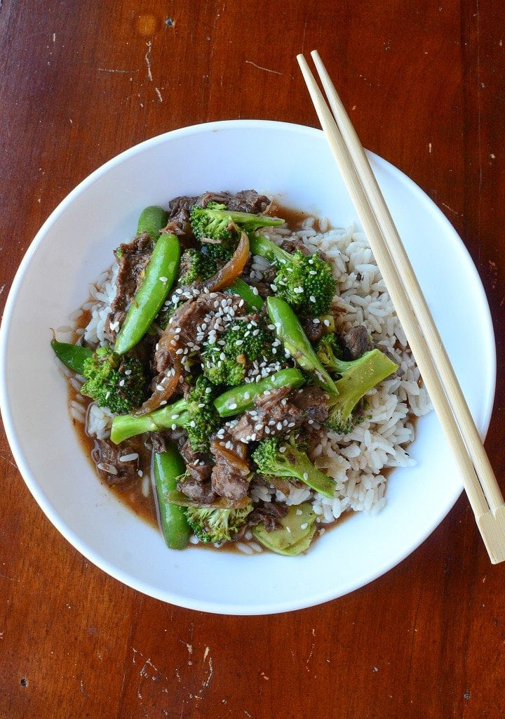 Crock Pot Beef and Broccoli Recipe with Snow Peas