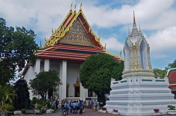 Visiting Wat Pho the Reclining Buddha in Bangkok Thailand