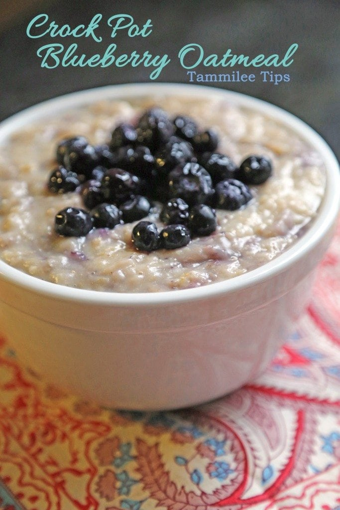 Crock Pot Blueberry Oatmeal Recipe