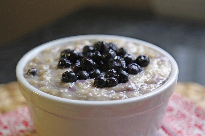 Crock Pot Blueberry Oatmeal Recipe