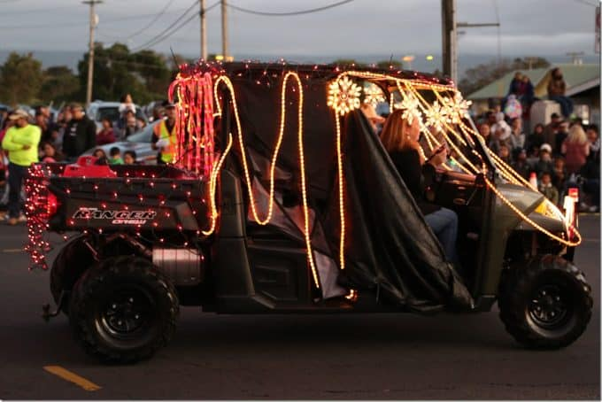 Decorated Ranger in the Waimea Christmas Parade